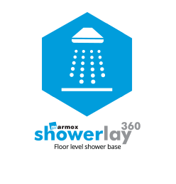 h2o Marmox Showerlay burkolható zuhanytálca
